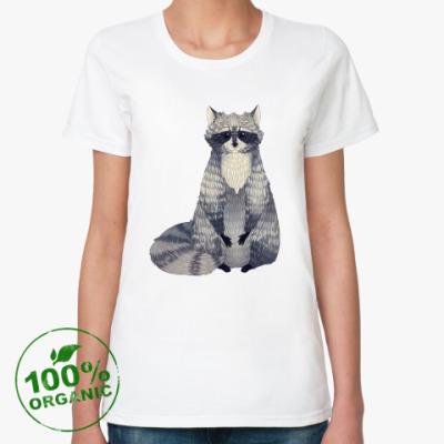Женская футболка из органик-хлопка Енот