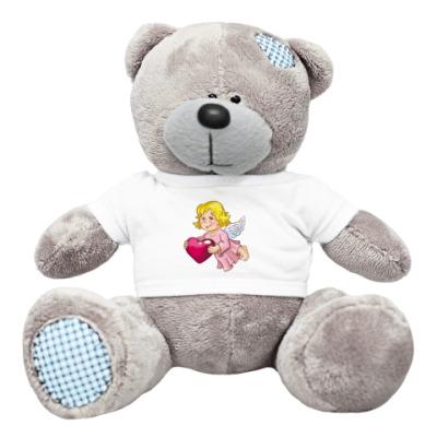 Плюшевый мишка Тедди Ангел с сердечком