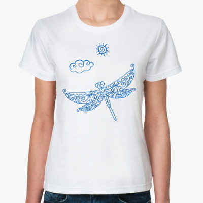 Классическая футболка  Стрекоза