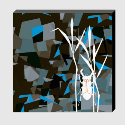 Холст жук в волшебном лесу