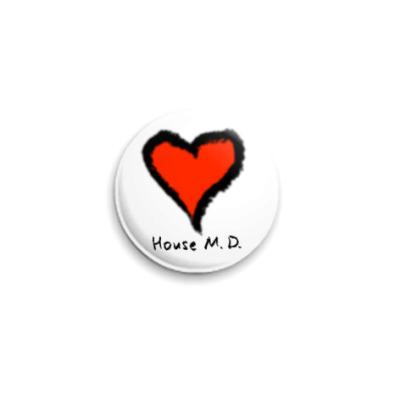 Значок 25мм : «Сердце»