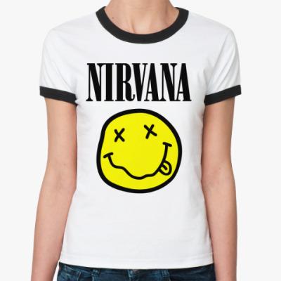Женская футболка Ringer-T Nirvana