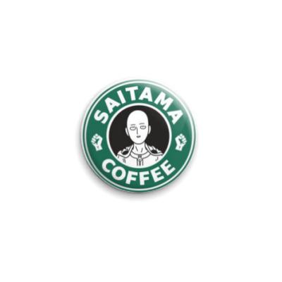 Значок 25мм One-Punch Man Starbucks