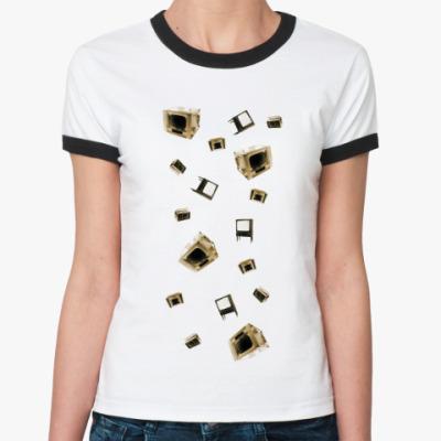 Женская футболка Ringer-T  OldTV
