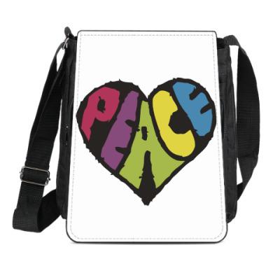 Сумка-планшет Сердце мира