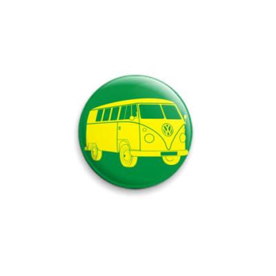 Значок 25мм  VW(зел)