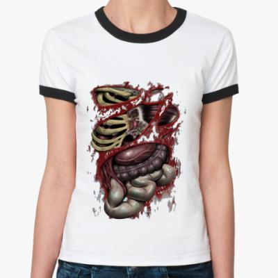 Женская футболка Ringer-T Zombie guts