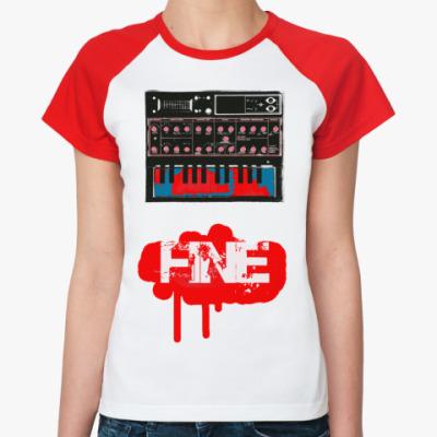 Женская футболка реглан   FINE