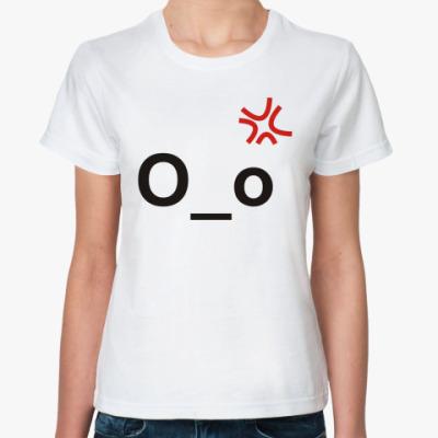 Классическая футболка эмотикон О_о
