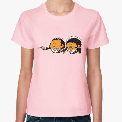 Женская футболка Pulp fiction. Тарантино. Фильм