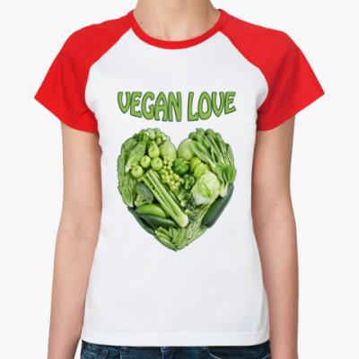 Женская футболка реглан Вегетарианцы рулят!