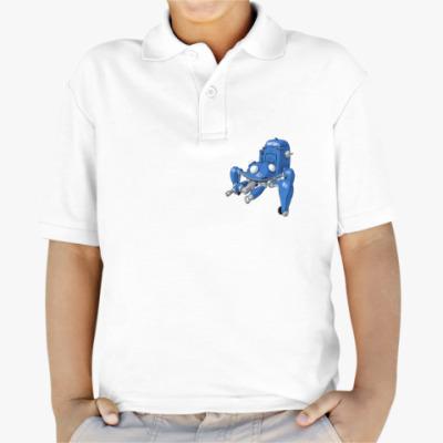 Детская рубашка поло призрак в доспехах