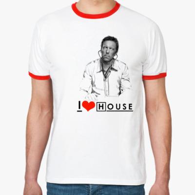 Футболка Ringer-T I love House