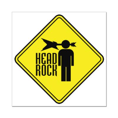Наклейка (стикер) Рок в голове