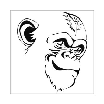 Наклейка (стикер) Шимпанзе