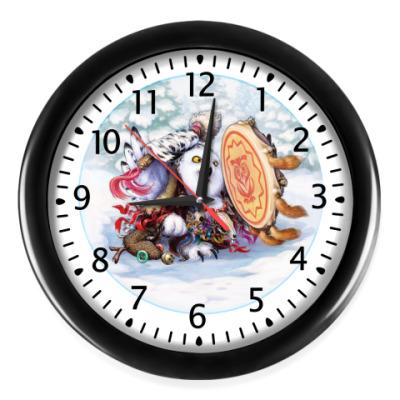 Настенные часы Сова - сибирский шаман