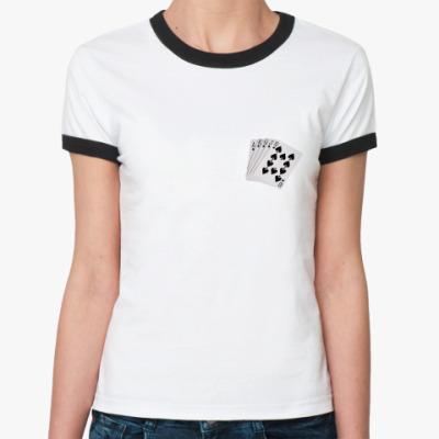 Женская футболка Ringer-T Карты