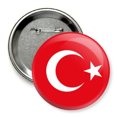 Значок 75мм Турция, Turkey