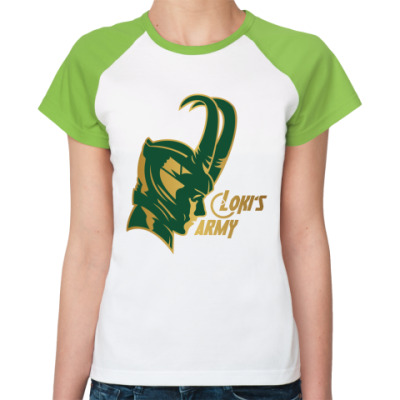 Женская футболка реглан  Мстители Армия Локи