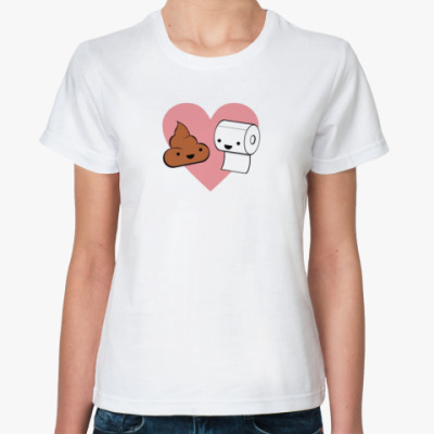 Классическая футболка Poo Love