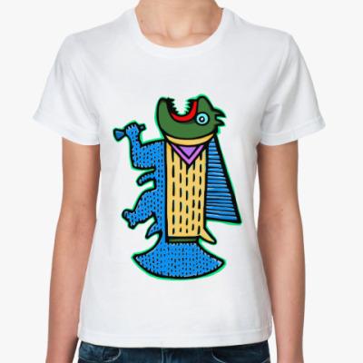 Классическая футболка  'Не золотая рыбка'