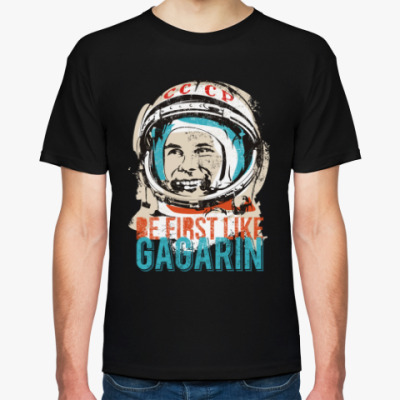 Футболка Yuri Gagarin. Юрий Гагарин.