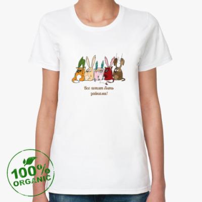 Женская футболка из органик-хлопка Зайки