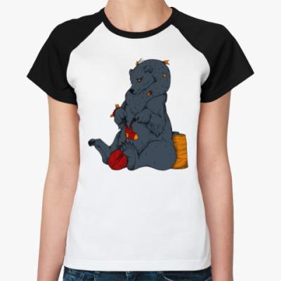 Женская футболка реглан Тепло Медведицы