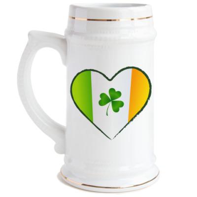 Пивная кружка Love Ireland