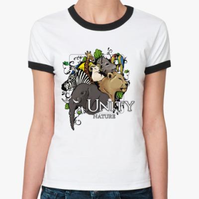 Женская футболка Ringer-T  Unity nature