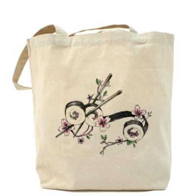 Сумка Сакура Суши Холщовая сумка