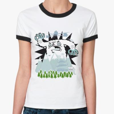 Женская футболка Ringer-T   Yeti