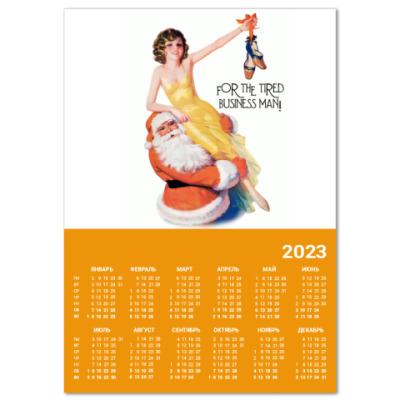 """Календарь  A3 """"Santa & Girl"""""""