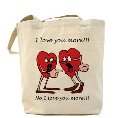 Сумка I love U more!