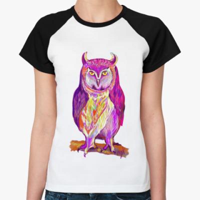 Женская футболка реглан Призрак ночи