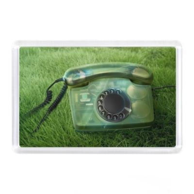 Магнит Телефон на траве
