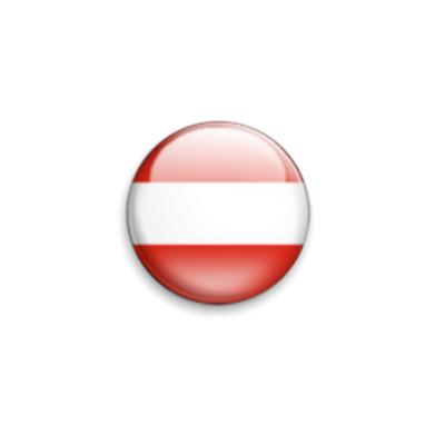 Значок 25мм Флаг Австрии