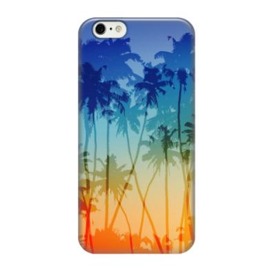 Чехол для iPhone 6/6s Закат и пальмы