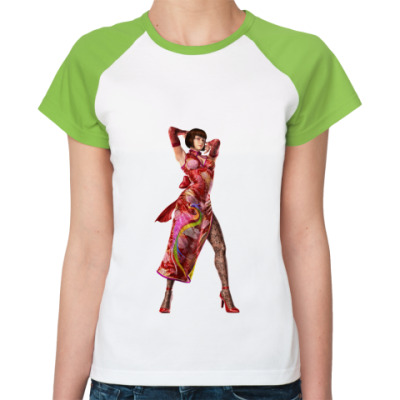 Женская футболка реглан Анна Уильямс .Теккен