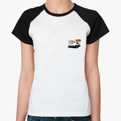 Женская футболка реглан 929