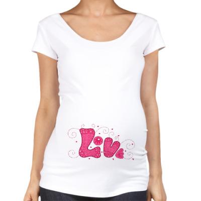 Футболка для беременных Love