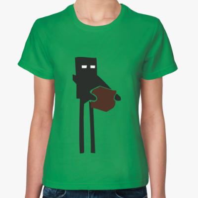 Женская футболка  Enderman
