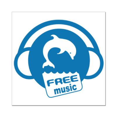 Наклейка (стикер) Free Music