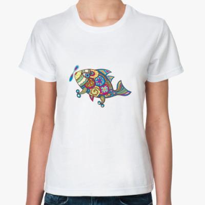 Классическая футболка Рыба-самолет