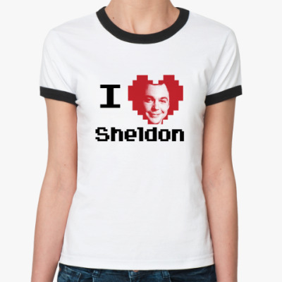 Женская футболка Ringer-T Шелдон