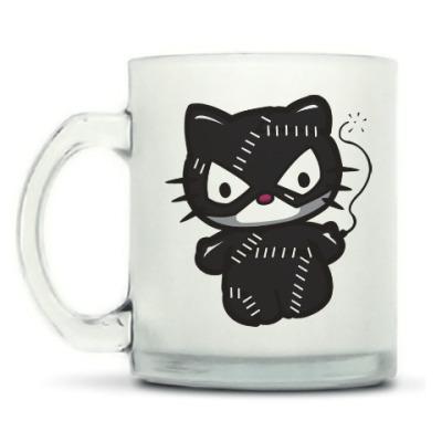 Кружка матовая Китти Женщина-кошка