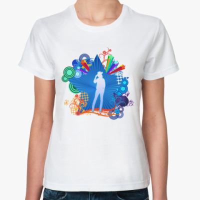 Классическая футболка  Радуга на Запад