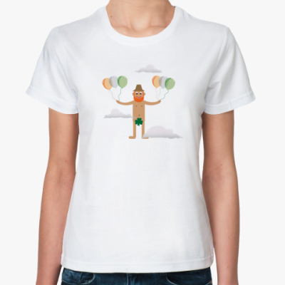 Классическая футболка клеверный листочек!