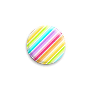 Значок 25мм  Rainbow Stripes 04