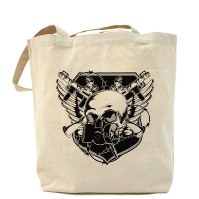 Сумка Skull Gun Холщовая сумка